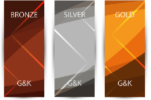 Gold, Silver Bronze Infographic